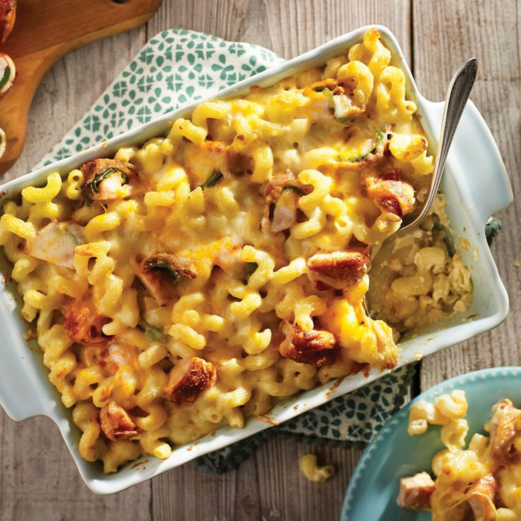 Two favorites combined into one decadent dish: Armadillo Egg Mac and Cheese Casserole is a delicious twist on a classic dinner. #HEBRecipe
