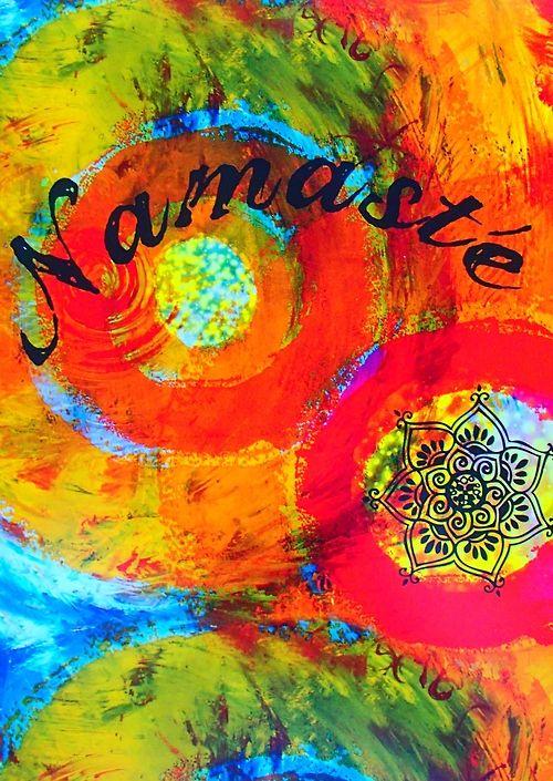 ॐ American Hippie Psychedelic Art ~ Namaste: Circles ...