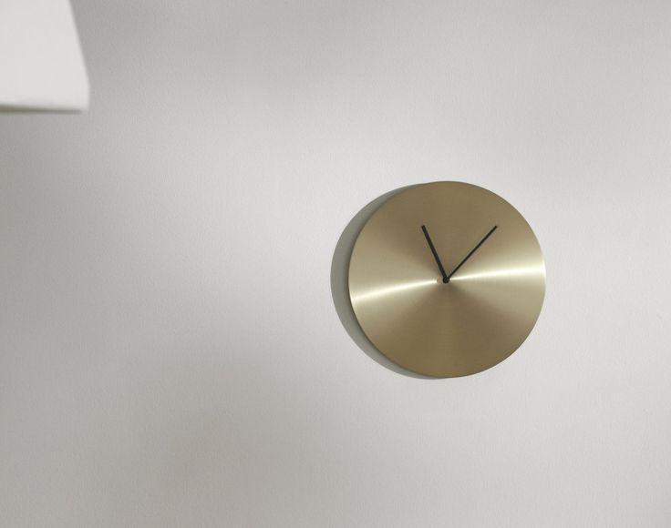 Norm Wall Clock, Brass