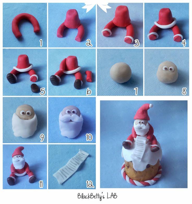 Tutorial Panettone - Babbo Natale con Lista dei Regali