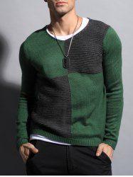 Два тона ребристых V шея свитер