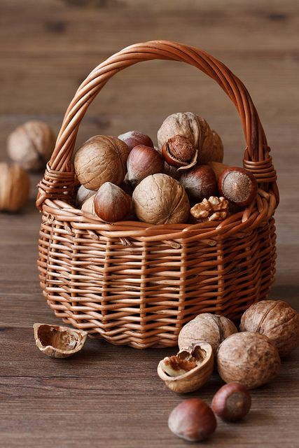 ♂ Food styling photography Basket of Nuts
