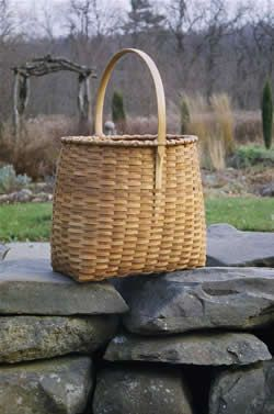 Black Ash Baskets..love the shape of this basket and how the handle is carved and attached....unusual to see the notch on the outside of the basket.
