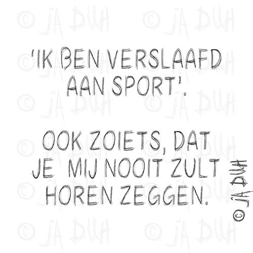 Ook zoiets. Door © Ja Duh #humor #sport