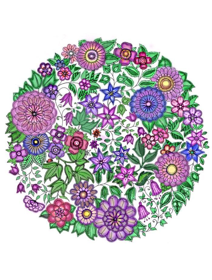 Adult Coloring Books Colouring Mandala Design Johanna Basford Secret Garden Flower Doodles Pictures Zentangle Ideas Para