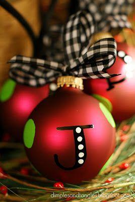 Personalized Ornaments - gift idea
