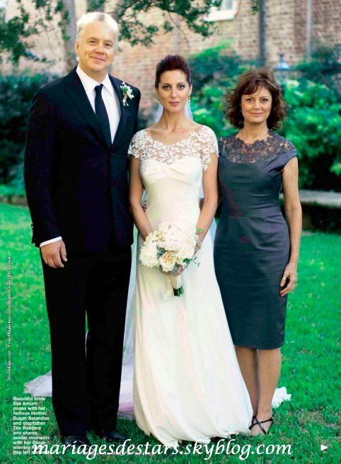 Susan Sarandon as the mother-of-the-bride at her daughter Eva Amurri's wedding.