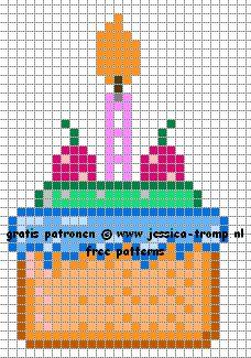 Pixel Art Gateau Anniversaire