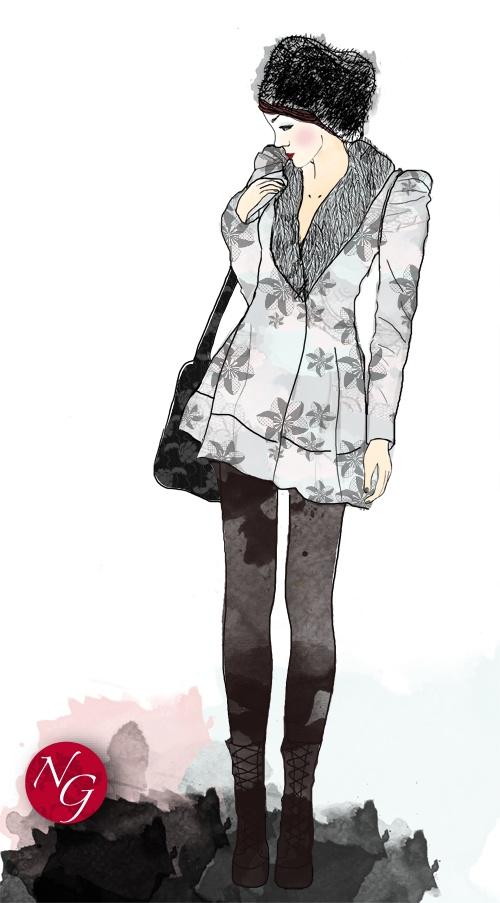 Russian boheme #fashion #illustration #boheme #flowers  http://www.nefergarden.com/2013/01/21/russian-bohem/