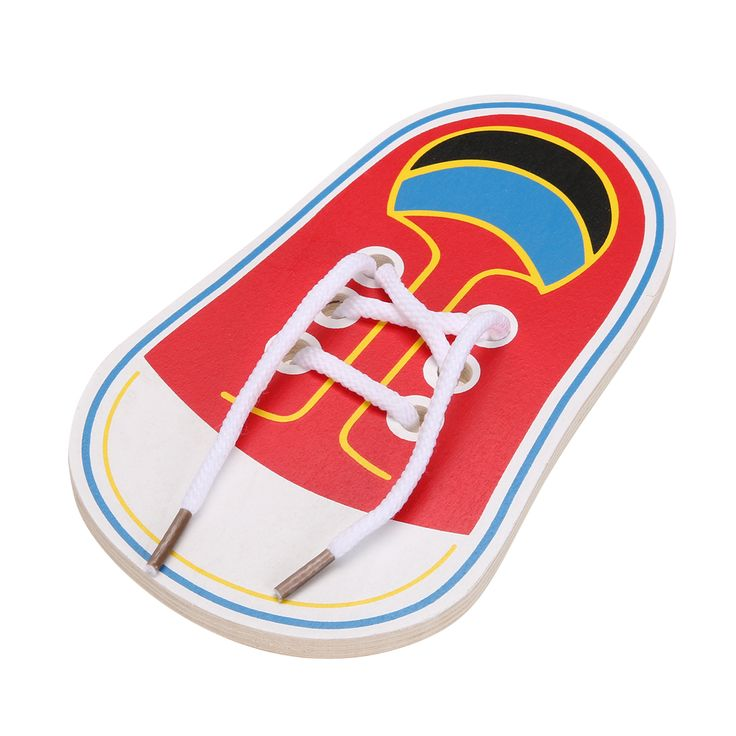 Baby Kids Clever Puzzle Jigsaw Borad Wooden Lacing Shoes Toddler Kids Educational Early Teaching Tie Shoelaces Puzzle Toys