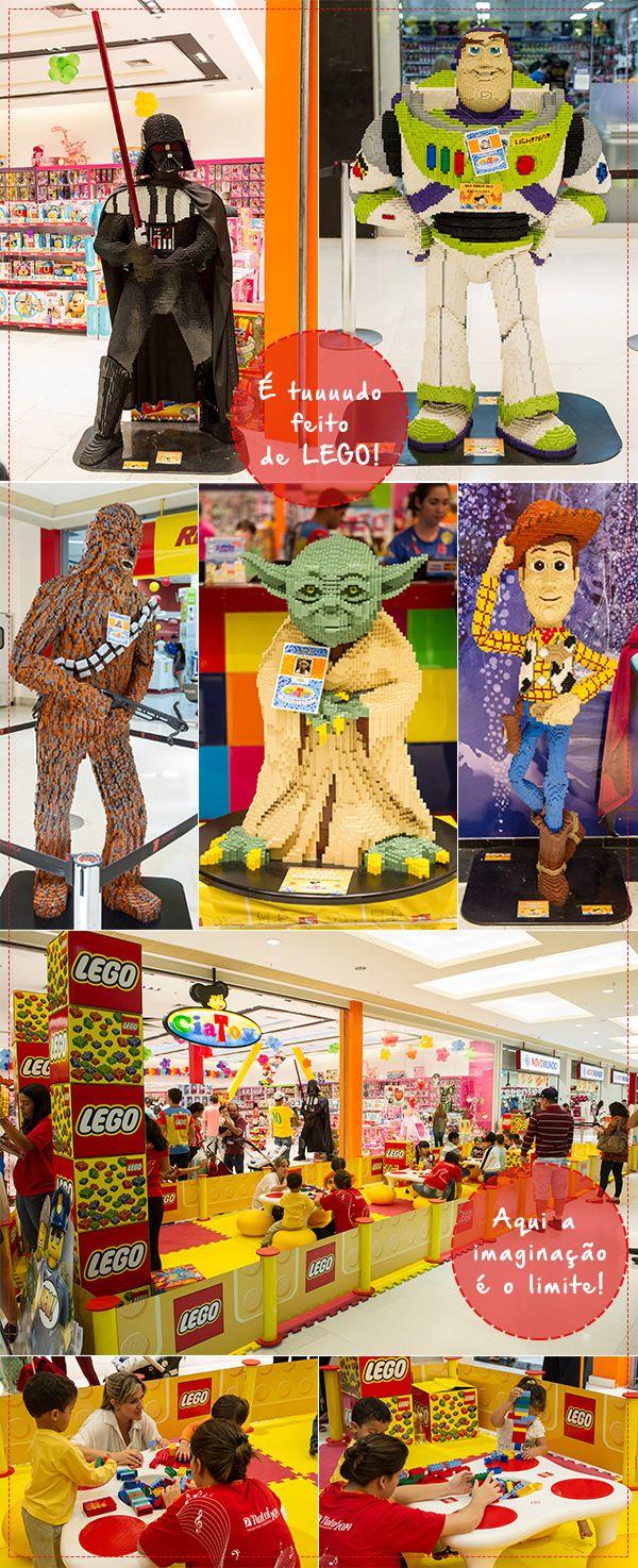 o Taguatinga Shopping, a criançada pode soltar a imaginação e criar dezenas de esculturas com os blocos de montar na Oficina de Criação LEGO® que acontece em frente a CiaToy, no 3º piso. O evento acontece até 18 de dezembro, com funcionamento de segunda a quinta-feira e aos domingos, das 14h às 20h. Sextas e sábados, das 14h às 22h. :)