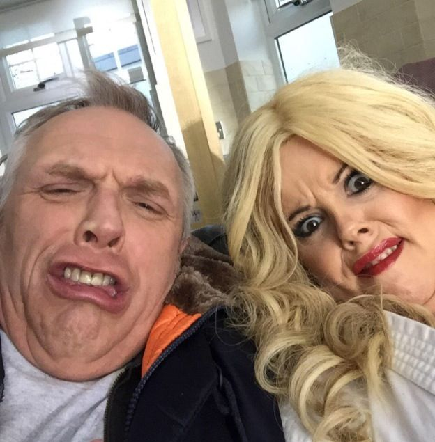 Greg Davis and Roisin Conaty- man down