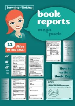 Book Reports  Mega Pack11 files.1 x lesson sequence1 x Powerpoint  How to write a book report1 x organiser1 x sample1 x scaffolded template2 x student rubrics  word and pdf2 x student self assessment  word and pdf2 x teacher assessment  word and pdf