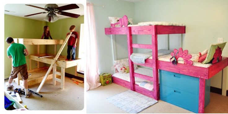You will love these plans for triple bunk beds