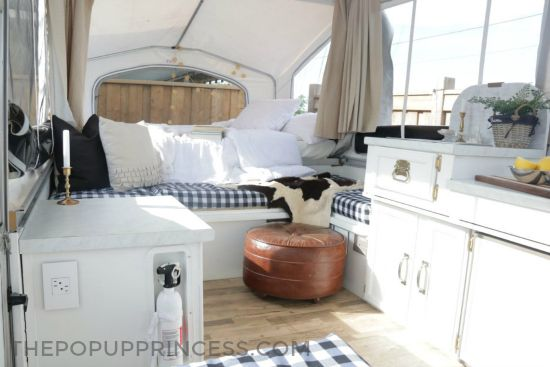 Bethany purchased and remodeled a Palomino pop up camper to allow her the perfect little mobile retreat for soaking up family time with her children.