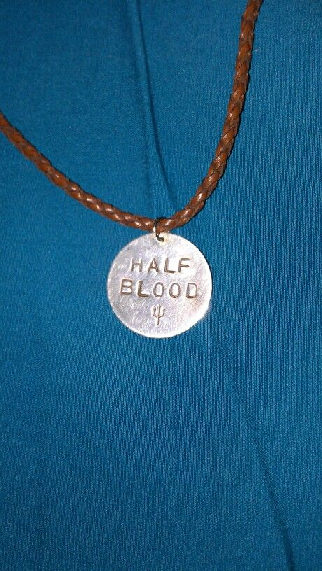 Half blood necklace with trident symbol | Percy Jackson ...