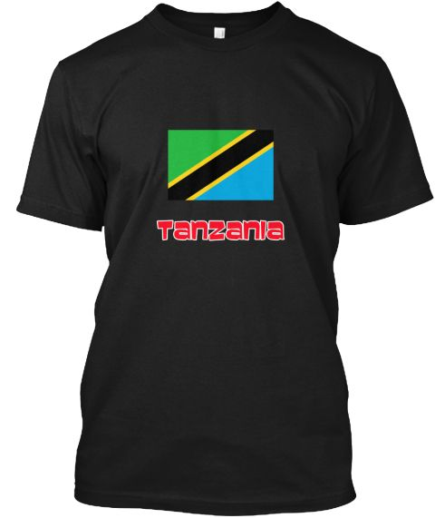 Tanzania Flag Retro Red Design Black T-Shirt Front - This is the perfect gift for someone who loves Tanzania. Thank you for visiting my page (Related terms: I Heart Tanzania,Tanzania,Tanzanian,Tanzania Travel,I Love My Country,Tanzania Flag, Tanzania Map,Ta #Tanzania, #Tanzaniashirts...)