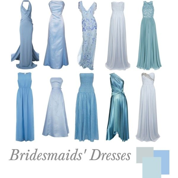 """Bridesmaids' Dresses: Ice Blue"" by pinkrubbersoul on Polyvore"
