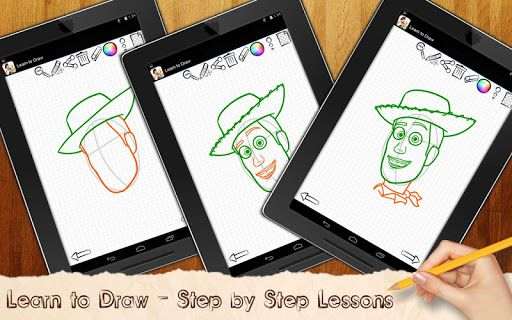 Exciting drawing: Toy Story Movie Characters — an exclusive application that helps you learn how to draw Sheriff Woody, Buzz, Hamm or Buzz by simple lesson steps!Drawing seems to be a complicated task. You will understand how easy it is to draw via detailed step by step lessons when you see it yourself. Drawing game: Toy Story Game Characters is suitable for the child's development or self- studying, for drawing teachers, or it could be just a nice way to spend time with your family or wi...