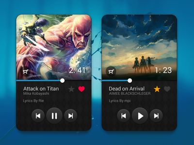 Tiny Music Player UI