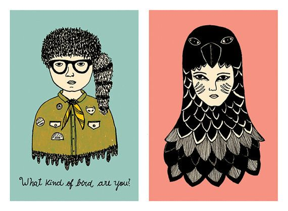 Moonrise Kingdom  Suzy and Sam  148 x 21cm par anaiaia sur Etsy, $22.00