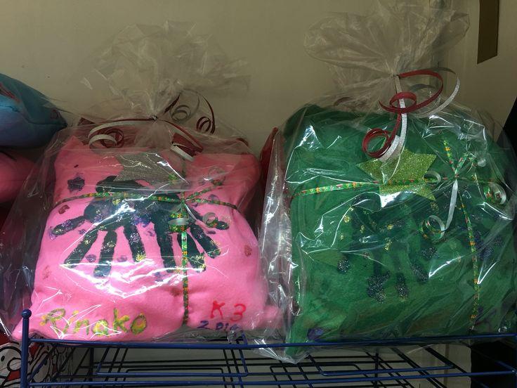 Christmas pillows giveaways.