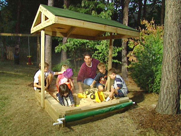 playhouse sandbox with rolling cover & pavilion sandbox 3