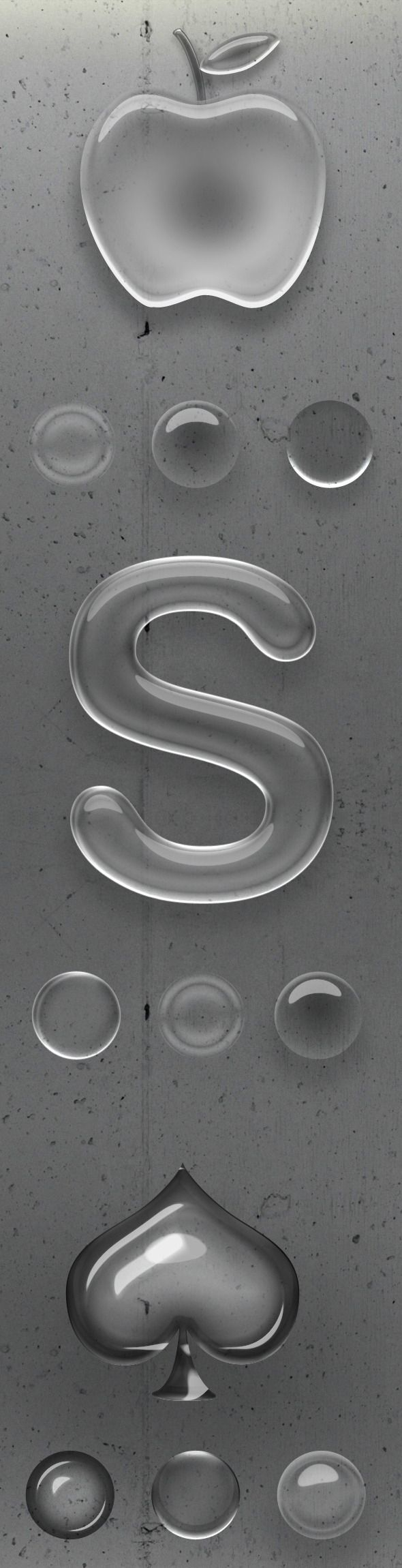 Realistic Elegant Photoshop Glass Style - Text Effects Styles