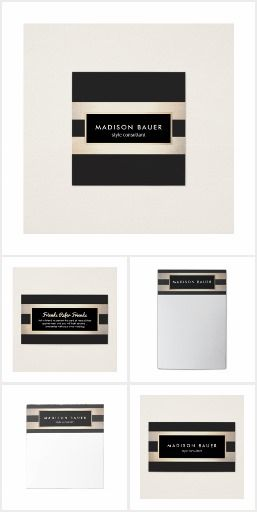 Modern Black and Gold Striped Elegant faux gold foil and black stripe design. Great for interior designers, event planners, beauty salons, fashion boutiques, makeup artists and more. Matching products include business cards, flyers and rackcards with more to come. Have a custom request? Contact me at maurareed.designs@gmail.com and l will reply within 24 hours.
