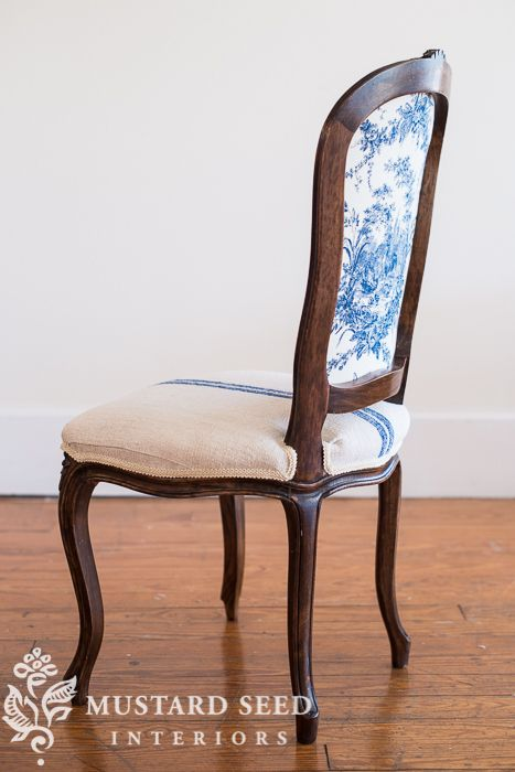 reinforcing a chair back - Miss Mustard Seed