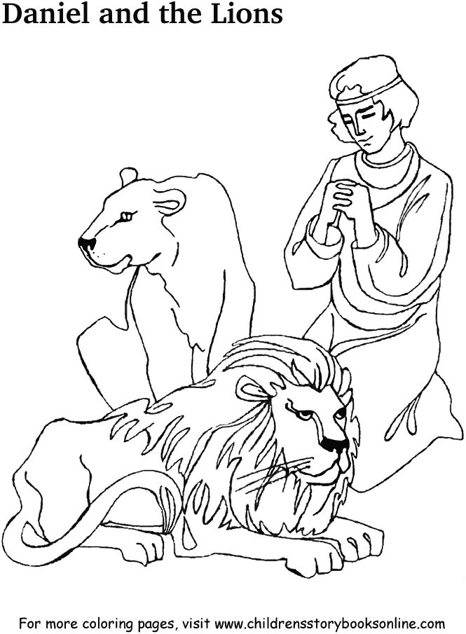 daniel and the lions den coloring page your browser does