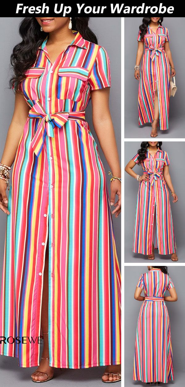 56bbf3ef8ab1f Big Sale & Free Shipping. Belted Turndown Collar Button Up Maxi ...