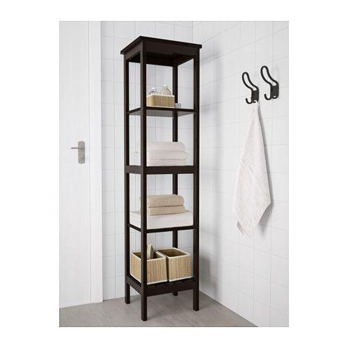 HEMNES Shelving unit - black-brown stain - IKEA