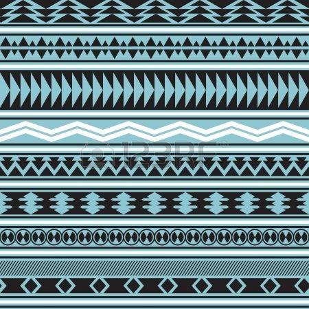 Tribal gestreepte naadloze patroon geometrische achtergrond Stalen van naadloze patroon opgenomen in Stockfoto