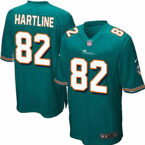 Brian Hartline Jersey Miami Dolphins #82 Youth Green Limited Jersey Nike NFL Jersey Sale