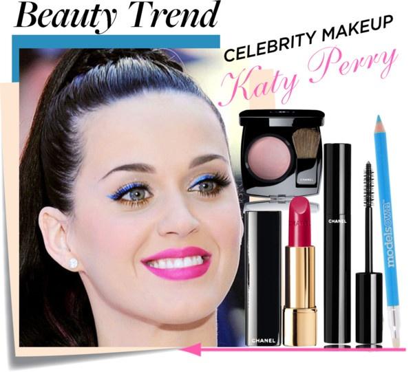 """Celebrity Make up- Katy Perry"" by sofiasolfieri ❤ liked on Polyvore"