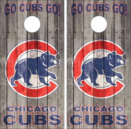 Chicago Cubs cornhole set Custom Made by CustomBackyardgames