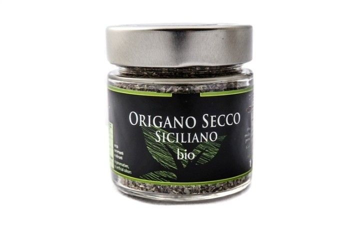 Sicilian oregon in glass jar. Natural flavor for flavoring first and second courses, pizza and typical Sicilian delicatessen food #sicilian #Oregon #origan #origano #bio