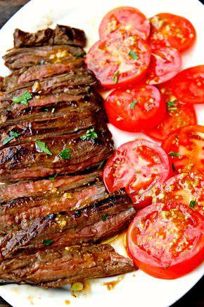 tengo un plan b: Falda de ternera marinada a la parrilla - Marinated grilled skirt steak