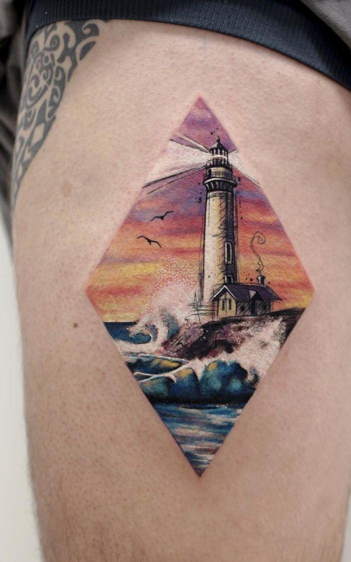 Water ocean watercolor tattoos