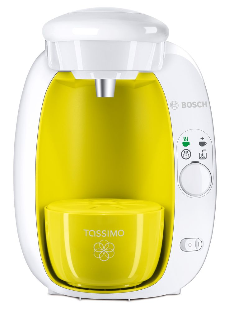 Bosch Tassimo, coffee, plastic, white, yellow