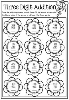 Spring Math Printable No Prep Packet Math2 Pinterest Math 2nd