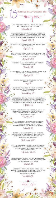 15 Inspiring Bible Verses for the New Year! | I Believe | Biblia ...