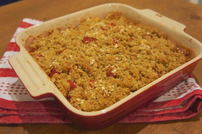 Rhubarb Apple Crisp | Yummo | Pinterest