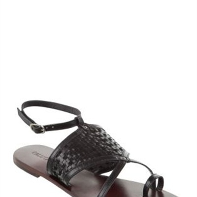 Cali and Cale - Cross - Flat Sandals (Black)  available at www.shoesonline.com.au