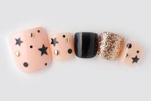 Accent nail with these stars would be cute!!