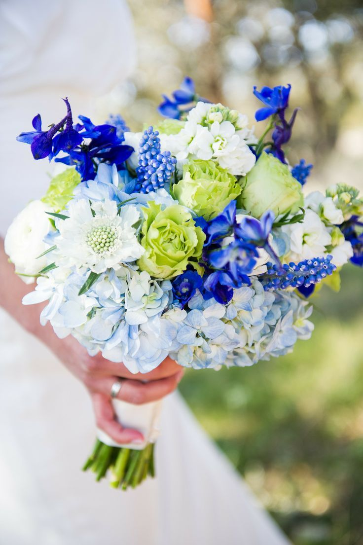 Fresh New Blue Wedding Bouquets We Adore - Cory Ryan