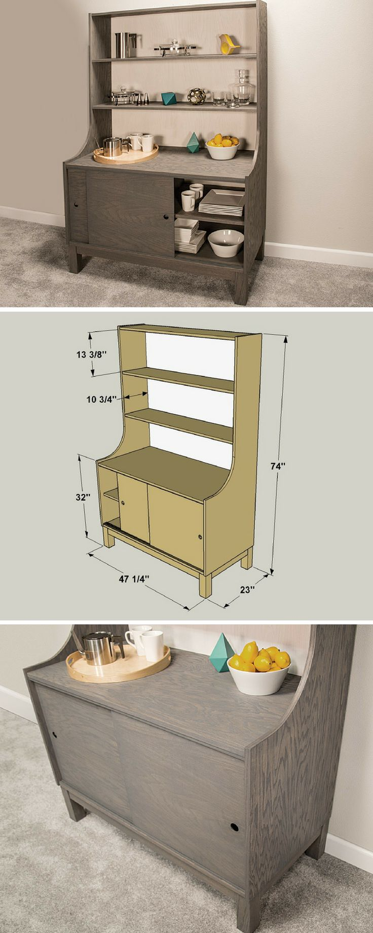 How To Build A DIY Dining Hutch