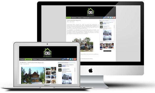 Construction Kevin Gingras avait besoin d'un site Web simple et facilement modifiable pour obtenir une première présence Web. L'entreprise voulait particulièrement avoir une galerie photo pour montrer ses réalisations et un flux d'activités Facebook pour pouvoir alimenter le site Web et la page Facebook de l'entreprise à un seul endroit.