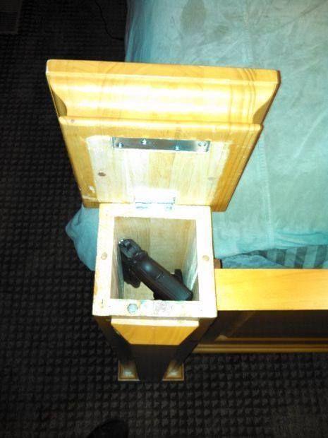 Hollow Bed Post Gun Storage  #fishing #camping #merica #hunting #outdoor #edc…